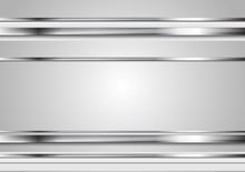 Minimal Abstract Technology Metallic Vector Background
