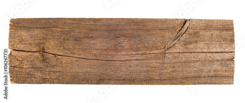 Fototapeta Old wooden board isolated on white background obraz