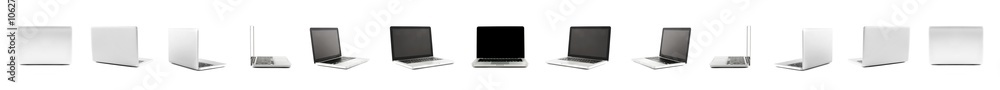 Fototapeta Collection of High definition views of a design laptop