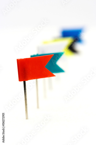 flag pins - Buy this stock photo and explore similar images