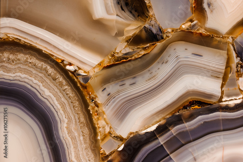 Piece of polished agate texture Tablou Canvas