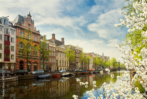 Photo  embanlment of canal ring, Amsterdam