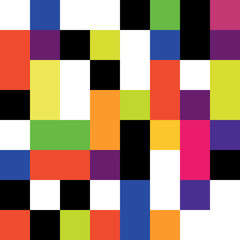 Fototapeta Style retro_colored_squares_pattern_seamless [Converted]