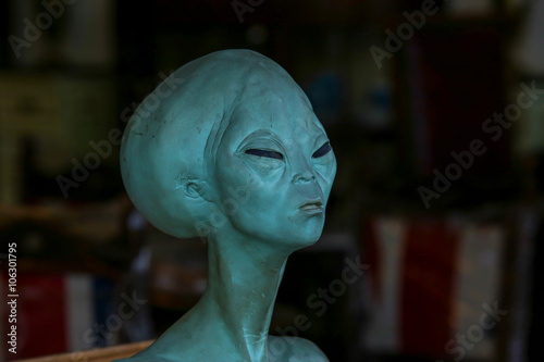 Model head of alien.