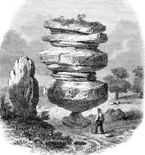 One Of Brimham Rocks, Vintage ...