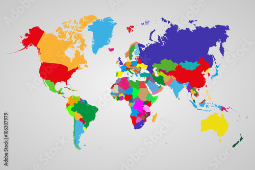 Different World Maps on