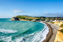 Freshwater Bay And Tennyson Down On The Isle Of Wight, UK