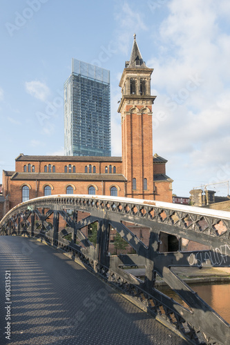 Beetham Tower und Pumphaus, Manchester Canvas Print