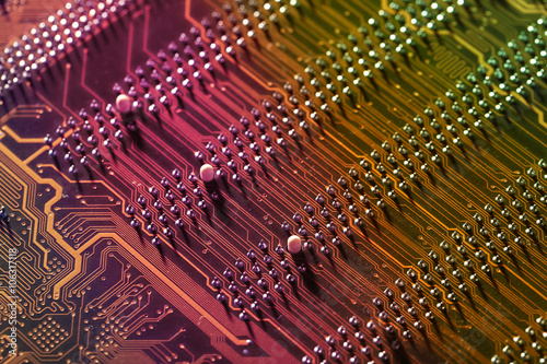 Fototapeta  Electronic circuit board, close up.