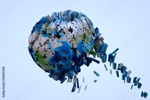 Fotografie, Obraz  Destruction Earth in Motion