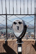 Tourist binoculars on the top of Empire State building, facing the hudson River