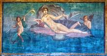 Venus Fresco In The Temple Of Venus, Pompeii, Italy