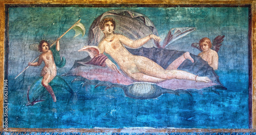 Fotografía  Venus fresco in the Temple of Venus, Pompeii, Italy