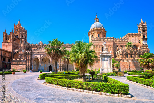 Photo sur Toile Palerme Cathedral of Palermo, Sicily, Italy