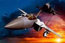 F-15C Eagle 3D Illustration Model In Flight