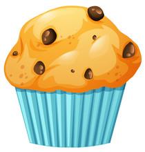 Muffin In Blue Cup
