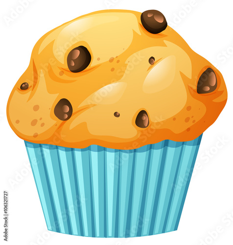 Muffin in blue cup Wallpaper Mural