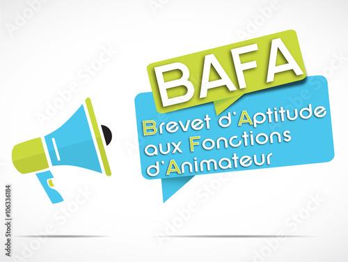 Fotografía  mégaphone : BAFA