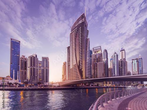 In de dag Dubai Dubai Marina Skyline
