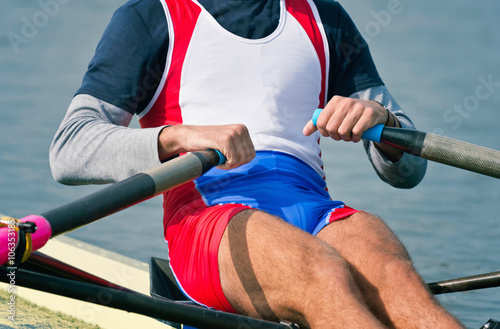 Fotografie, Obraz  Sports rowing athlete