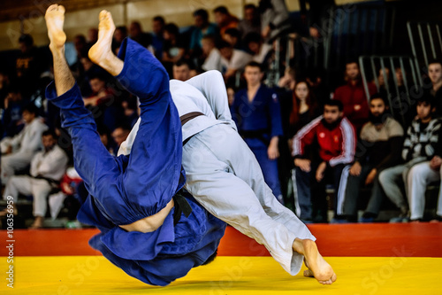 Fotografie, Obraz  fighter judo throw for IPPON in competition judo