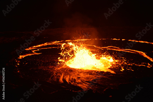 Deurstickers Vulkaan Eruption of Erta Ale volcano