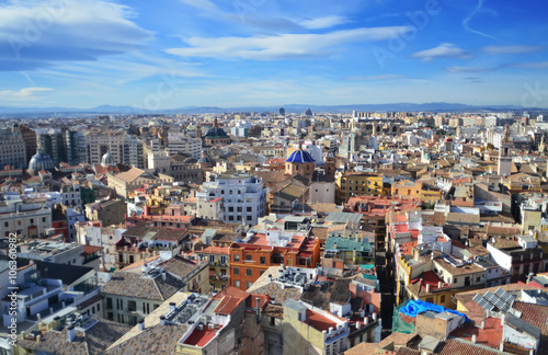Poster Panorama of the city of Valencia ,Spain