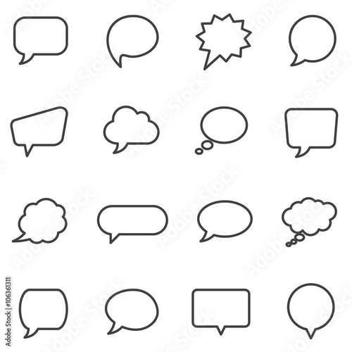 Canvastavla Speech bubbles and dialog balloons