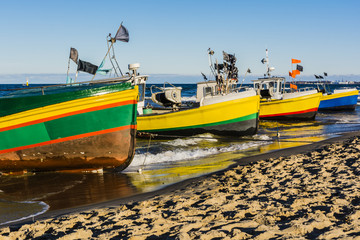 Fototapeta Morze Boats of fishermen.