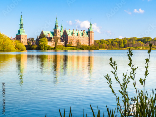 Castle Lake and Palace Frederiksborg Slot, Hillerod, Denmark Poster