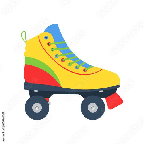 d3f9e072c Roller skates illlustration . Roller skate vector icon isolated. Flat style  roller skate.
