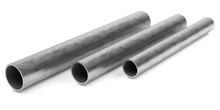 Steel Tubes On A White Background