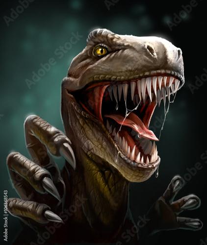 dinosaur Billede på lærred