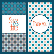 Wedding Card Invitation Template Editable, Pattern Vector Design. Save The Date Card.