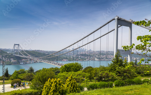 Istanbul view from Otagtepe, Beykoz, European side view from the Anatolian side Fototapete