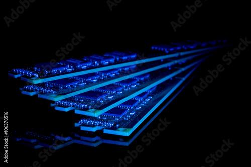 Fotografie, Obraz  Computer random access memory (RAM) modules