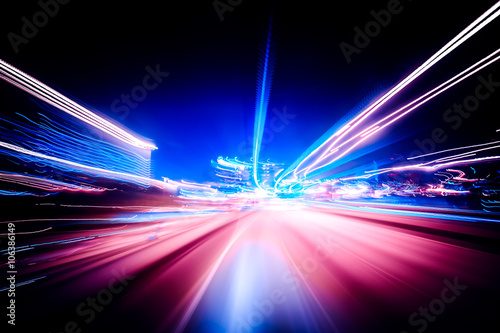 Fotomural  Colorful speed motion background