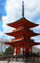 Small Three Story Pagoda In Tr...
