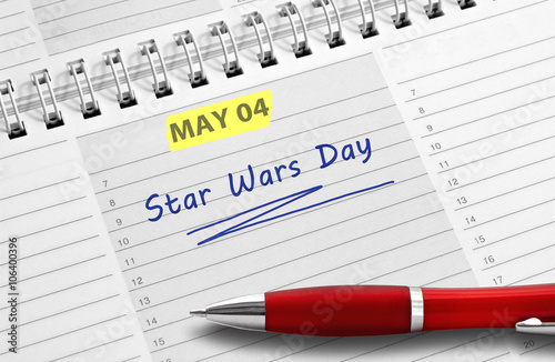 Note Star Wars Day Canvas Print