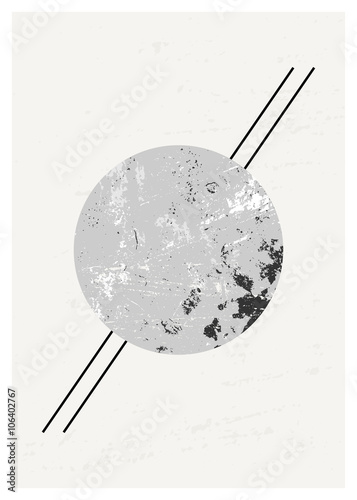 Tuinposter Geometrisch Abstract Geometric Composition