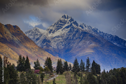 mountain scenic in queenstown south island new zealand