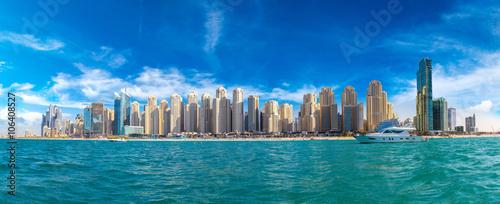 Foto-Kissen premium - Panorama of Dubai Marina (von Sergii Figurnyi)