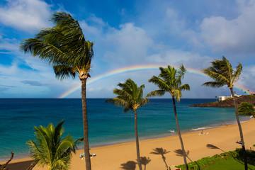 Tęcza nad Black Rock, Ka'anapali Beach, Maui
