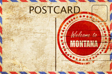 Vintage Postcard Welcome To Mo...