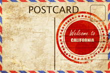 Vintage Postcard Welcome To Ca...
