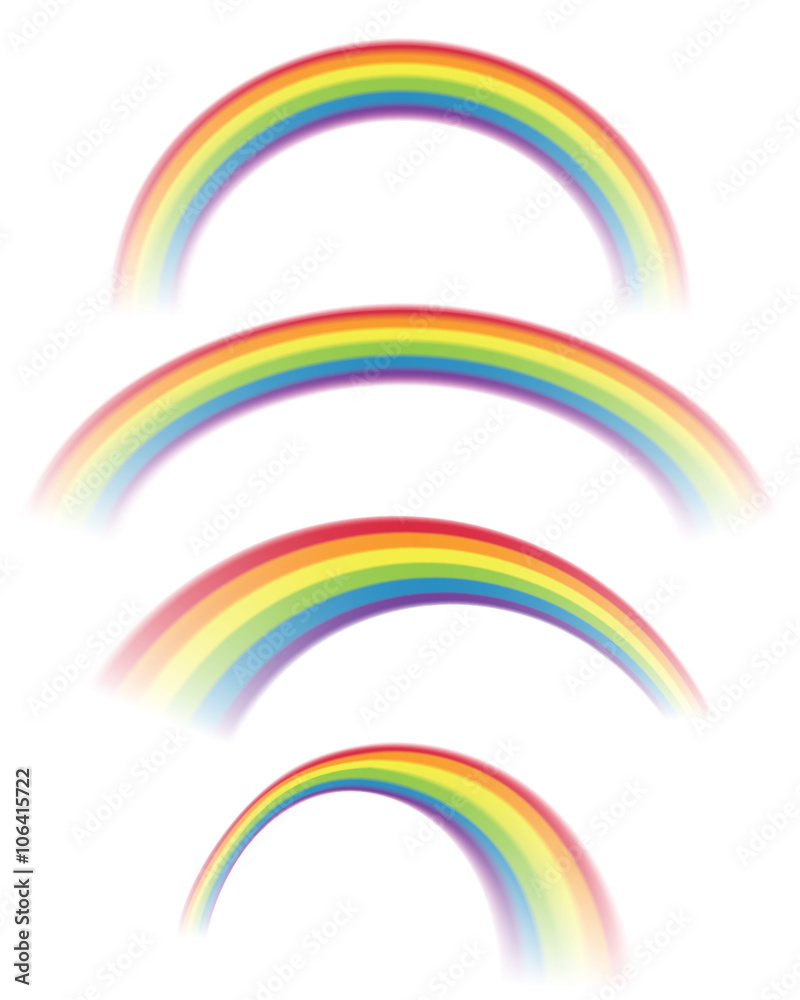 Fototapety, obrazy: Illustration of Rainbows in Different Shapes