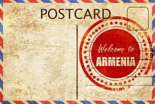 Vintage Postcard Welcome To Armenia
