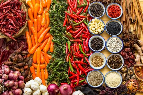 Foto auf AluDibond Gewürze Herbs And Spices.