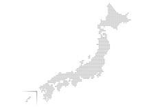日本地図 ドット イラスト 黒 グラデーション