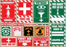 Set Of First Aid Medical Signs...